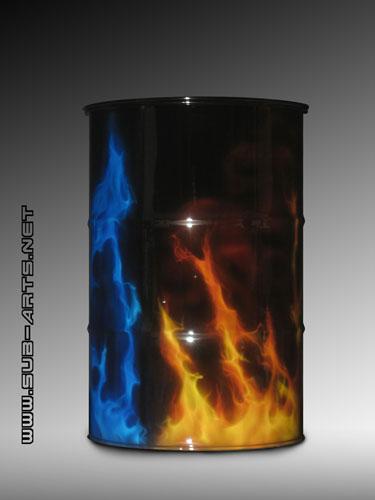 Oelfass-true-fire-blue-fire