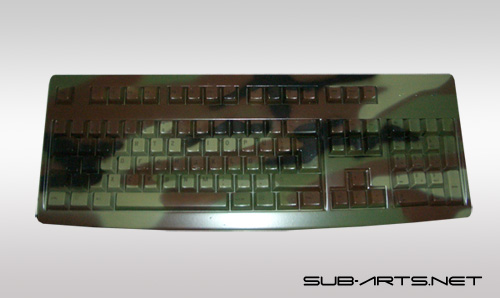 PC Tastatur airbrush woodland