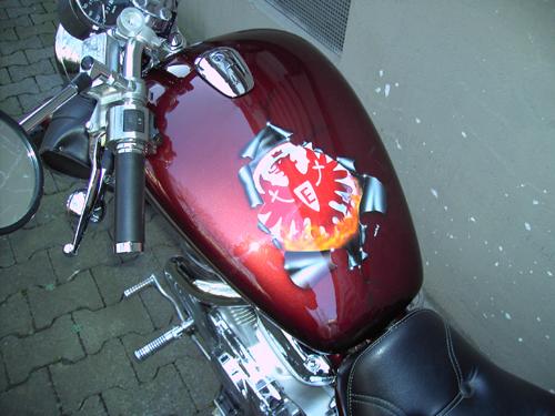 airbrush Motorradtank SGE