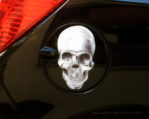 Tankdeckel Airbrush Skull