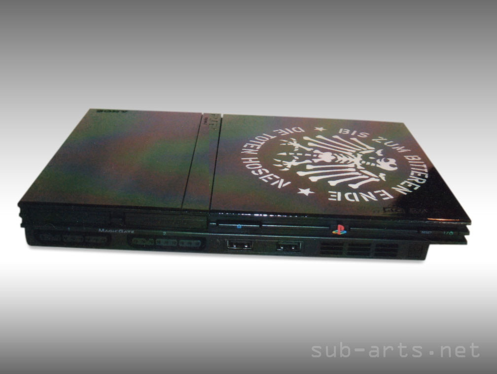 Playstation-Airbrush-Custom-Painting