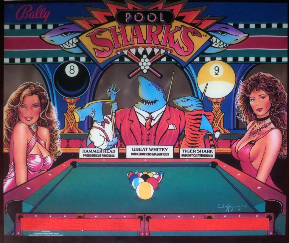 pool-sharks-pinball-translite-replika
