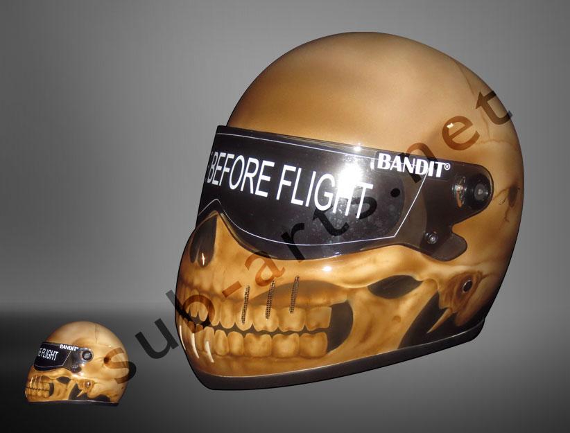 bandit-helm-xxr--airbrush-skull-design